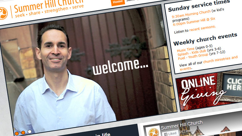 Summer Hill Church website
